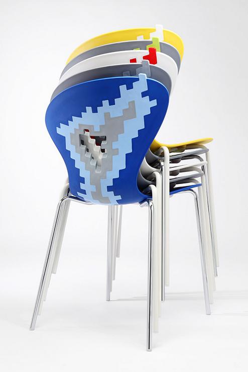 silla diseño apilable amontonar