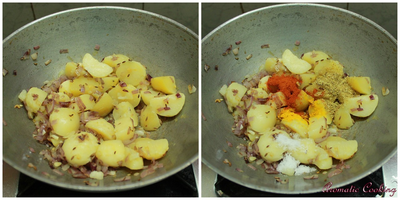Aromatic Cooking: Potato And Methi/Fenugreek Leaves Curry