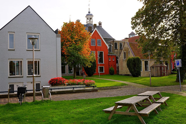 Picture of a courtyard in the center of Sneek, the Netherlands.