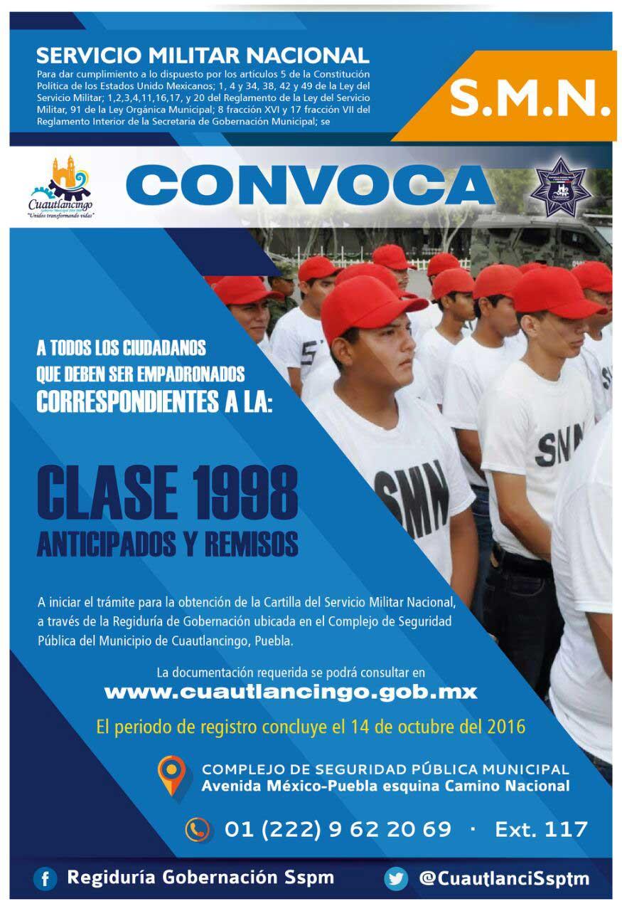 Servicio Nacional Militar en Cuautlancingo