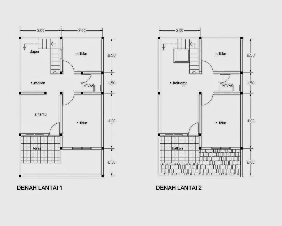 Renovasi Rumah Type 21 Desain Denah Rumah Terbaru Denah Rumah