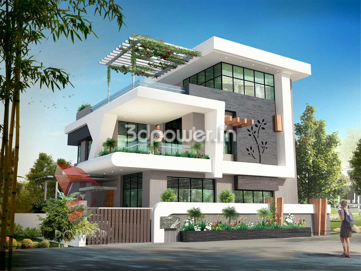 Ultra modern home designs home designs 20 bungalow designs for Home design 3d view