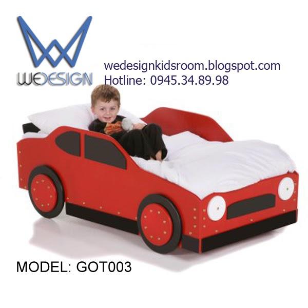 Giường ngủ trẻ em hình ô tô