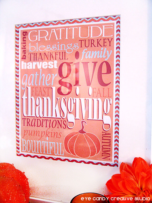 free thanksgiving art, freebie download, framed thanksgiving art