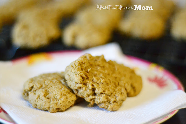 Banana Peanut Butter Cookies on Plate