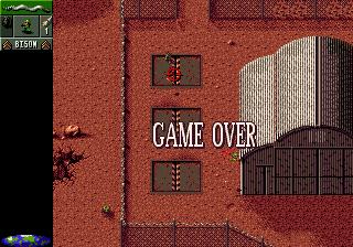 Cannon Fodder game game over hanger 18