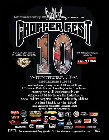The 10th Dave Mann Chopperfest. Ventura CA. December 8th.