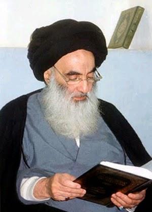 Najaf-based Shiite cleric Ayatollah Ali Sistani