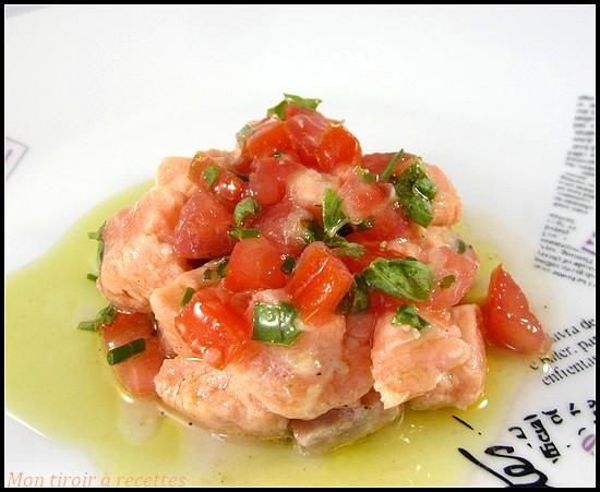 tartare saumon sauce vierge