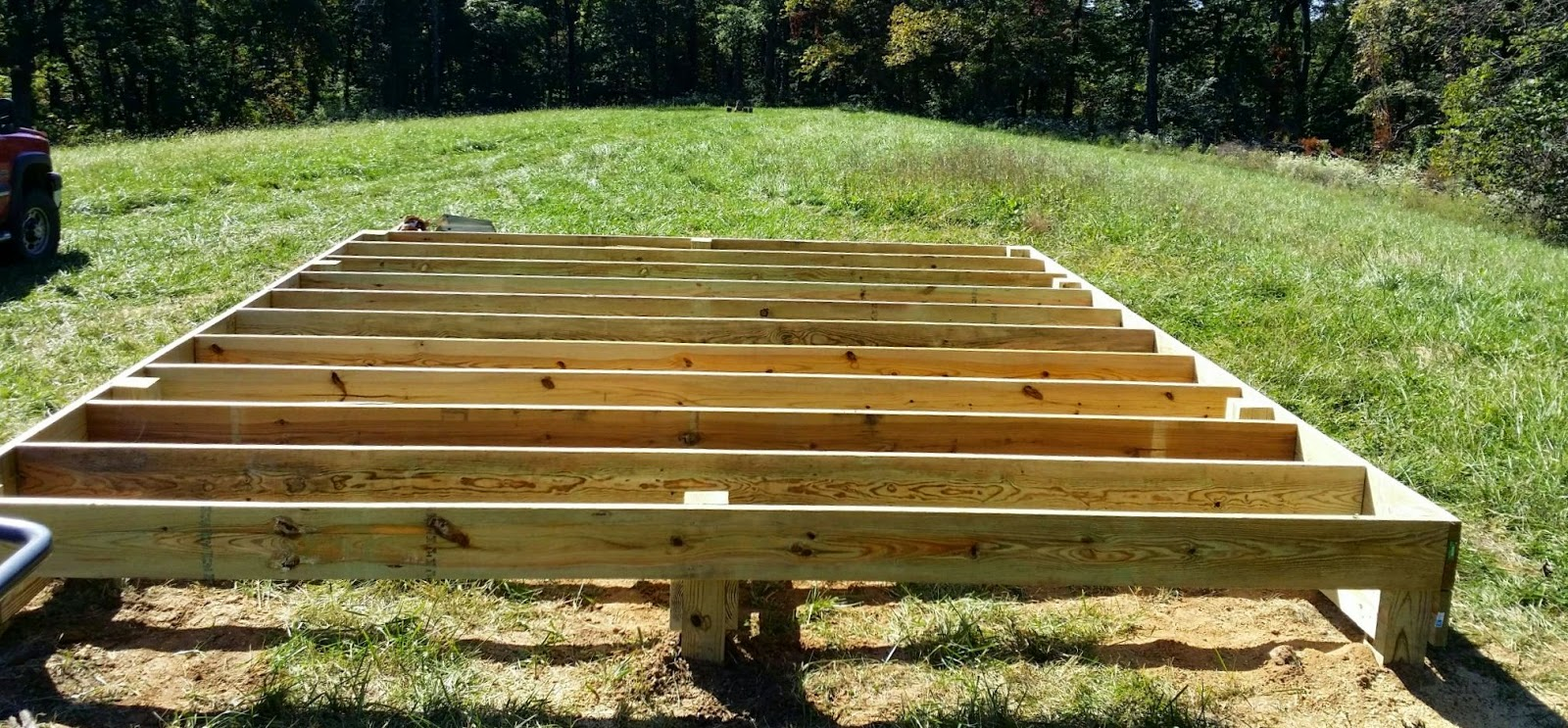 The self reliant homestead for Off grid cabin foundation