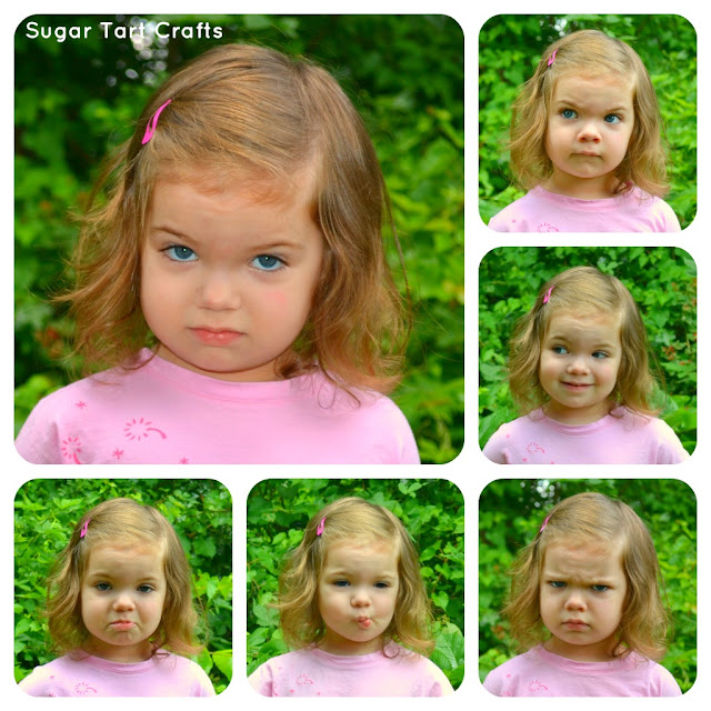 Toddler face collage