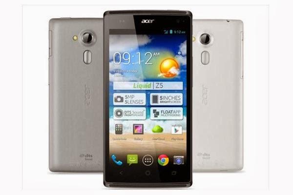 Spesifikasi dan Harga Hp Acer Liquid Z5 Terbaru