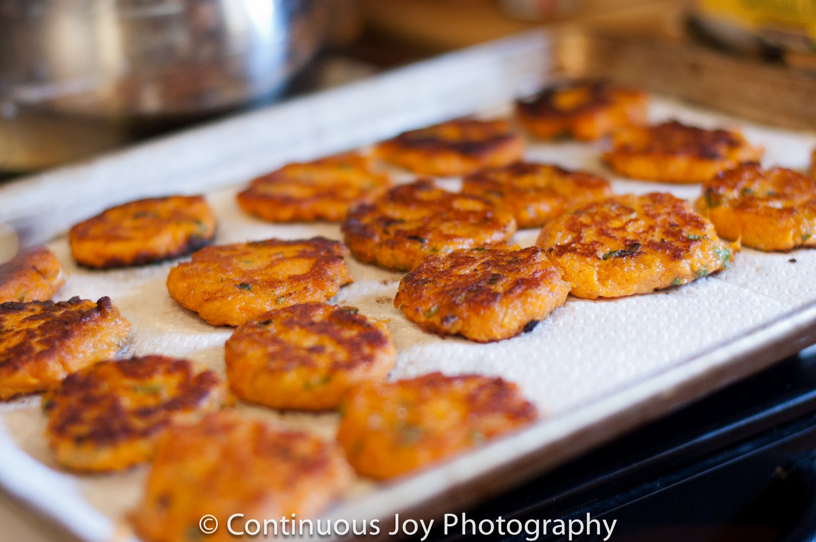 Art From My Table: Sweet Potato Cakes with Black Bean Salsa