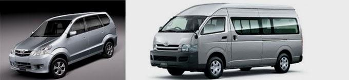 Hiace and Car rental