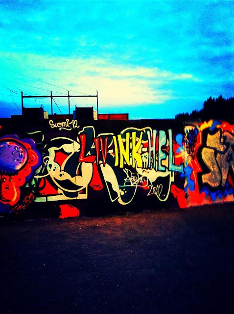 LIV-INK-HEL, Helsinki, Graffiti, Finland, Summer