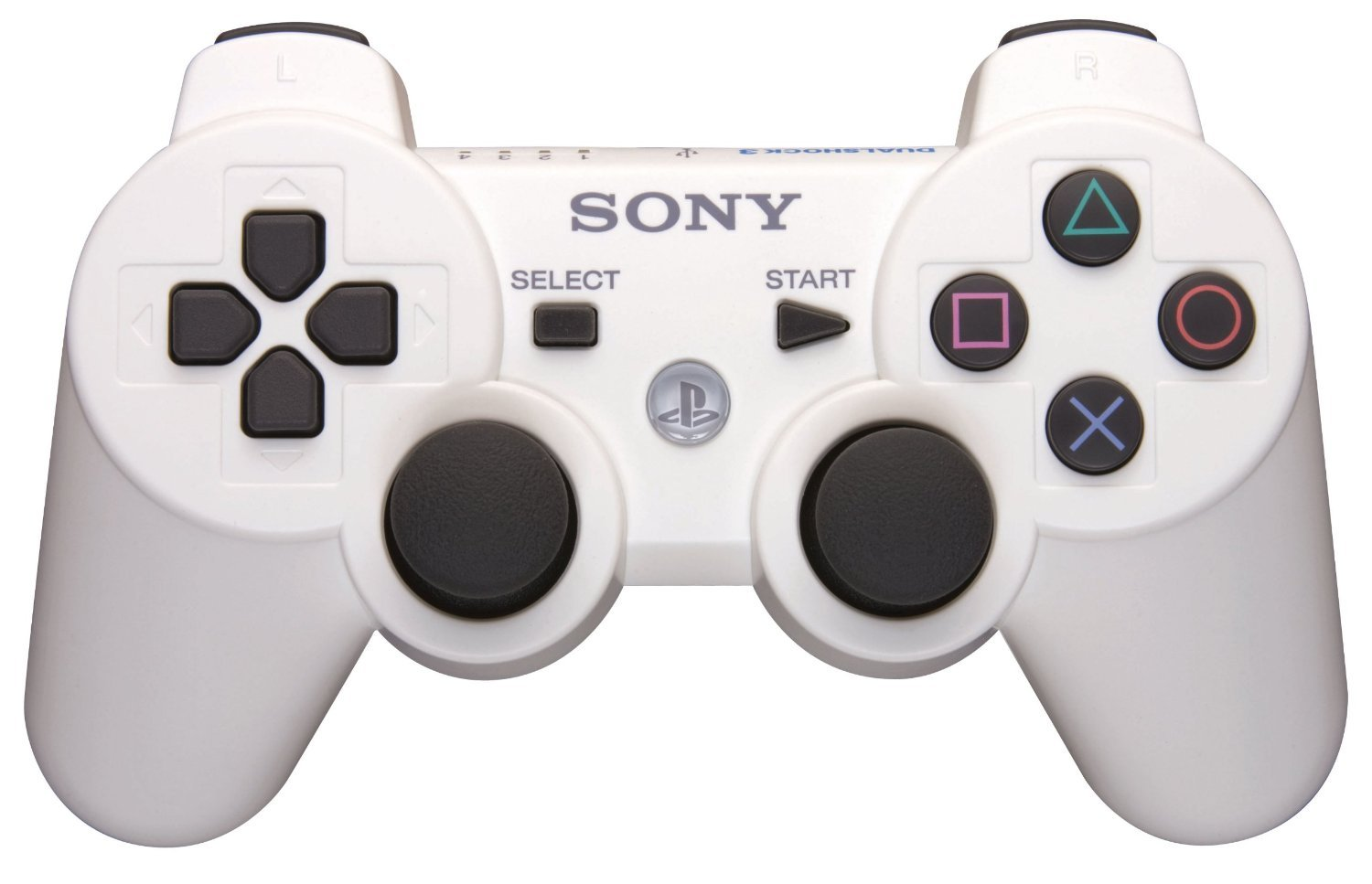 ps3controller ps3 wireless controller dualshock white classic. Black Bedroom Furniture Sets. Home Design Ideas
