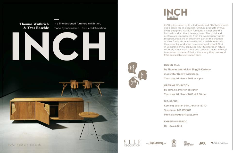 INCH Furniture Exhibition at Dia Lo Gue Artspace