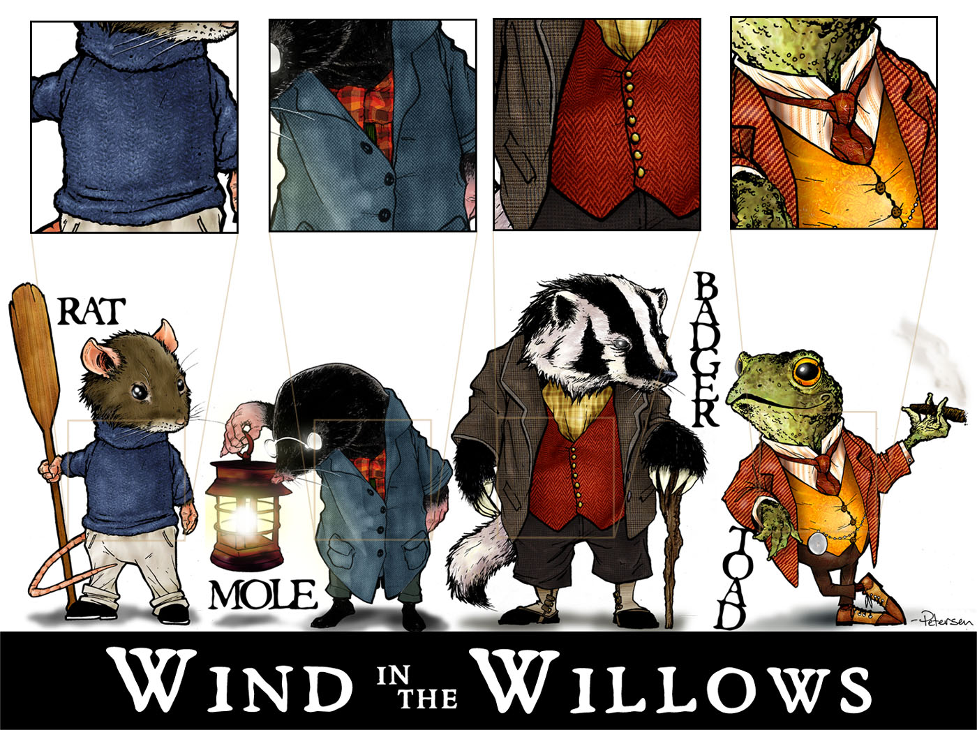 Free coloring pages for Wind in the willows coloring pages
