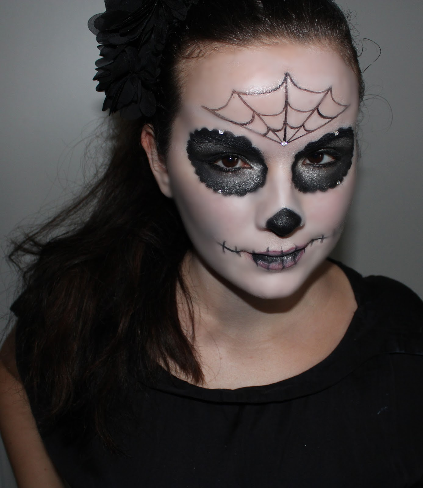 Beautyoverbros blog beaut toulouse mon maquillage halloween sugar skull - Image maquillage halloween ...