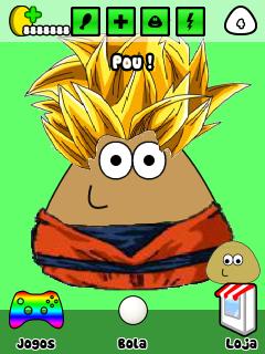 Esse Pou tem dinheiro infinito, esta personalizado de Dragon Ball Z