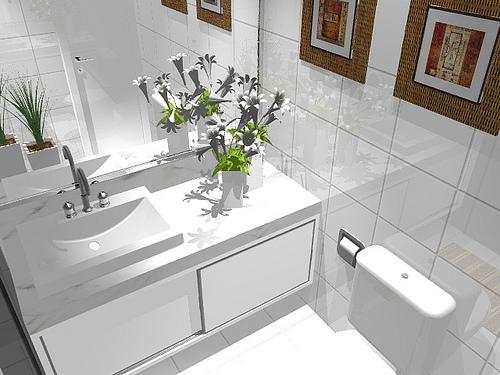 Ambientes & Ideias Banheiros -> Armario Banheiro Vazado