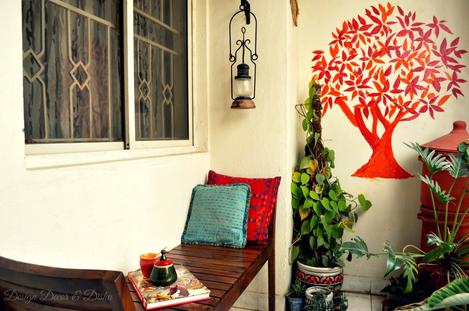 Design decor disha an indian design decor blog home for Balcony wall decoration