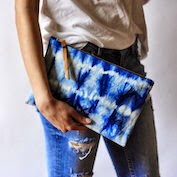 love this hand-dyed clutch!