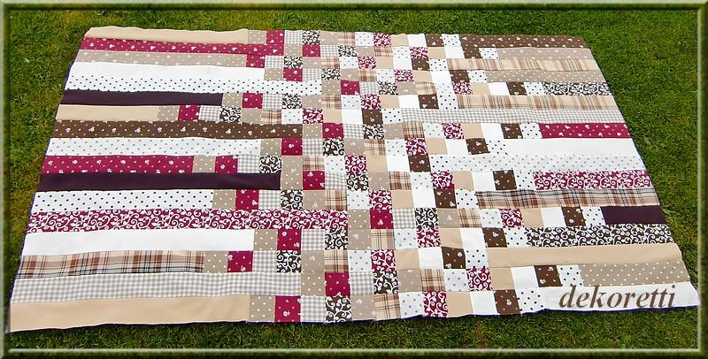 dekoretti s welt mal wieder ist eine patchworkdecke. Black Bedroom Furniture Sets. Home Design Ideas