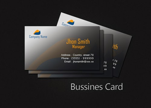 Create a Simple Black Business Card In Photoshop
