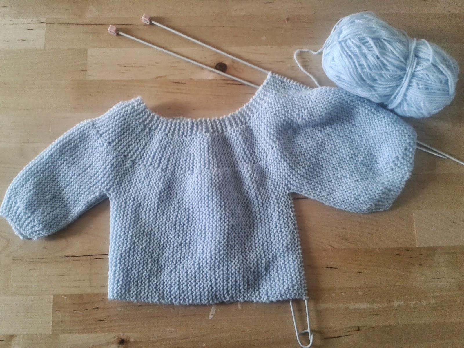 Lamirose une brassi re b b au tricot pas si facile - Faire une boutonniere au tricot ...