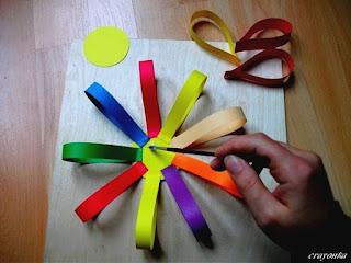 kwiatek z papieru do girlandy