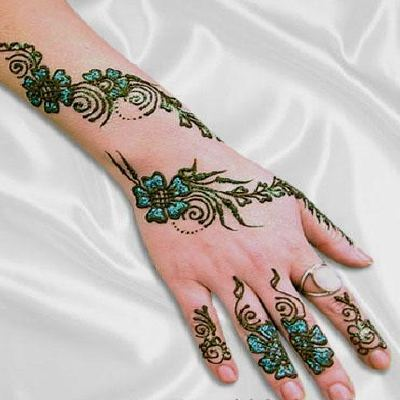 New Designs of Arabic Arm Henna Mehndi 2013