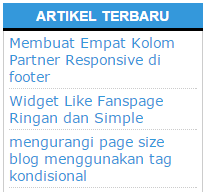 Membuat Widget Recent Post Simple dan Ringan