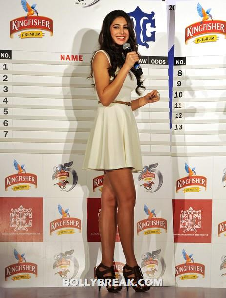 Nargis Fakhri in short dress - Hot Long legs - (2) -  Hot Nargis Fakhri at the Kingfisher pre-derby event