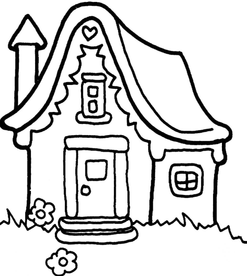 Houses Coloring Pages Printable | Family, People and Jobs Coloring ...