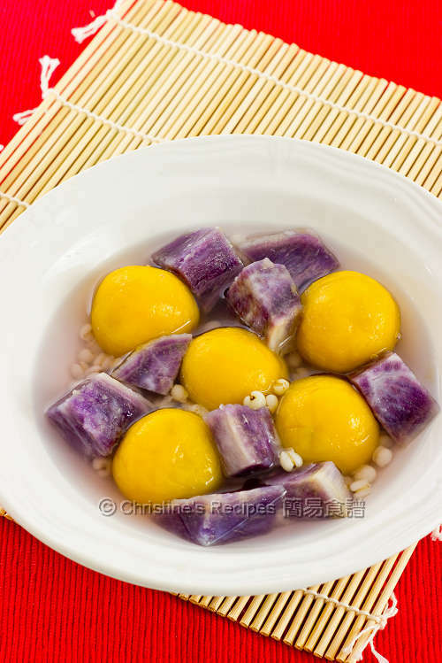 南瓜湯圓配紫薯 Pumpkin Glutinous Dumplings01