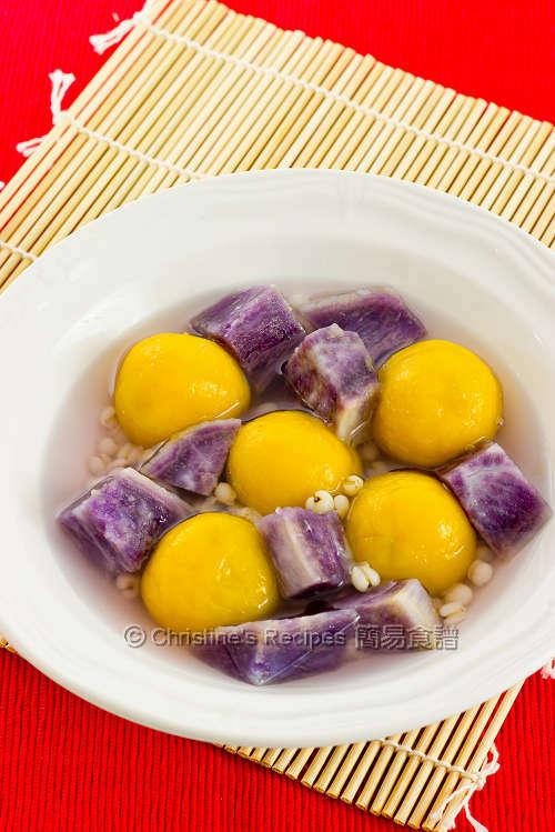 南瓜湯圓配紫薯 Pumpkin Glutinous Dumplings01