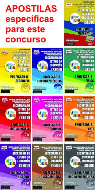APOSTILAS para o concurso 2015 de professor do Espírito Santo - Sedu-ES
