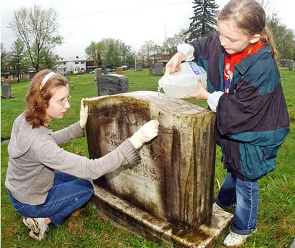 Cleaning Marble Headstones : Headstone tombstone and grave monuments