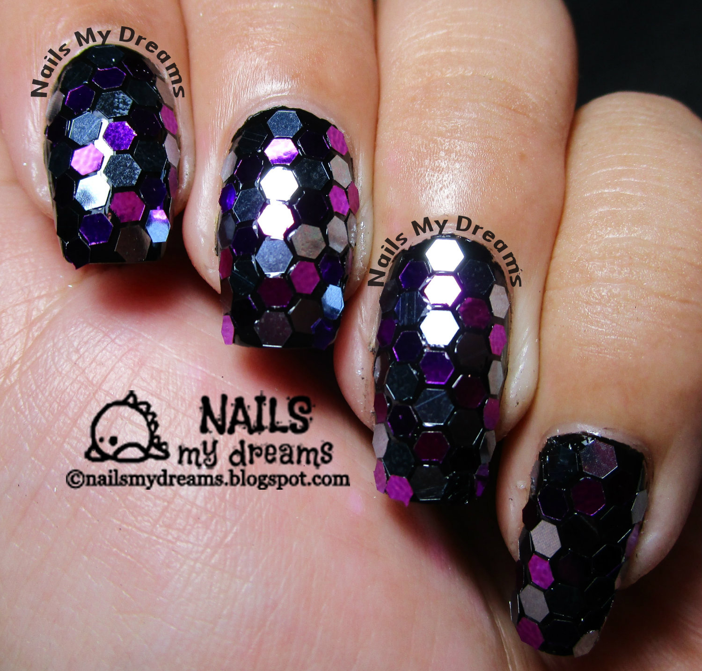 Nails My Dreams: Hexagon Glitters Nail Art