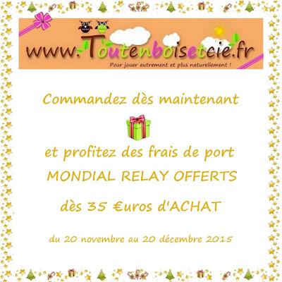 Toutenboisetcie novembre 2015 - Frais de port mondial relay ...