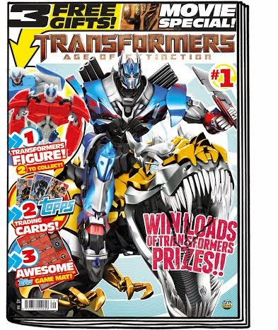 The New Transformers: Age Of Extinction Magazine