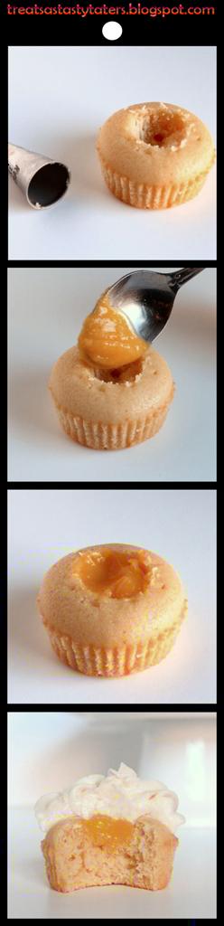 filling cupcake