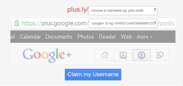 Plus.ly personaliza tu dirección de Google Plus.
