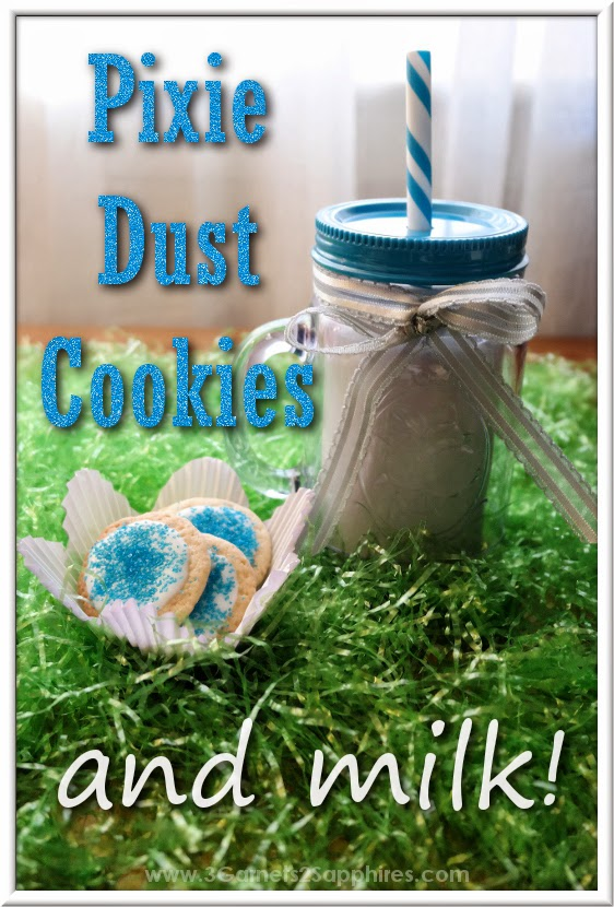 Blue pixie dust cookies and milk for a Disney Fairies family movie night! #ProtectPixieHollow #shop #cbias