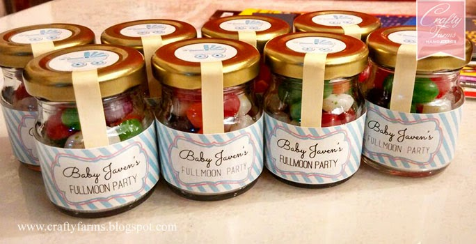jelly bean baby fullmoon party favour, special door gift, sweet treats