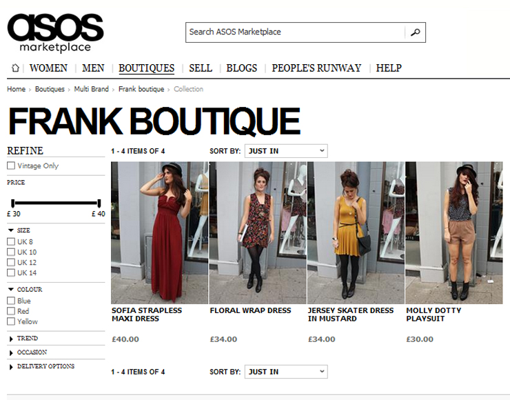 frank: Frank Boutique on ASOS marketplace....
