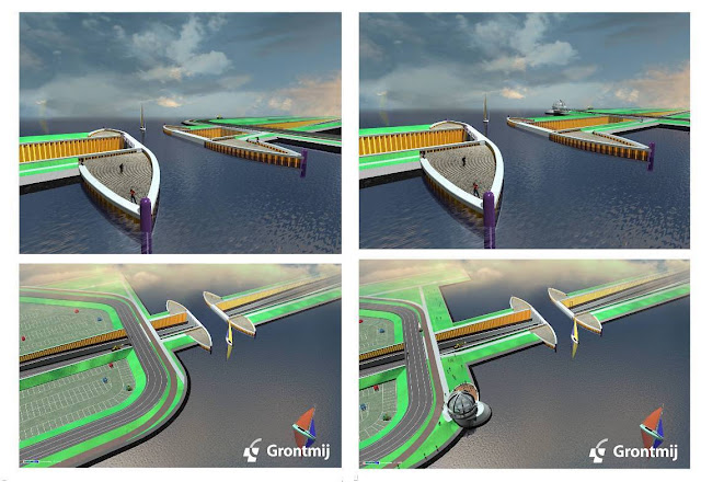 Awesome driving underwater construction in netherland