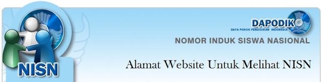 Alamat Website Untuk Melihat NISN | Nomor Induk Siswa Nasional