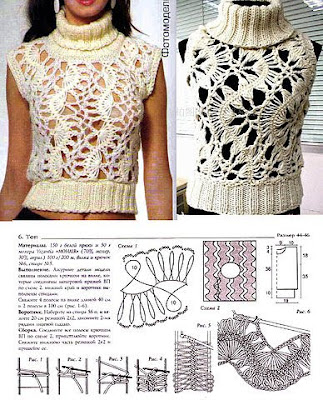 girls fashion: crochet pattern